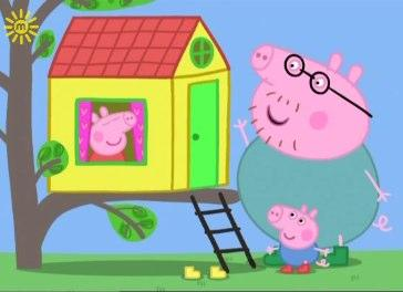 peppa daddy's big fat tummy