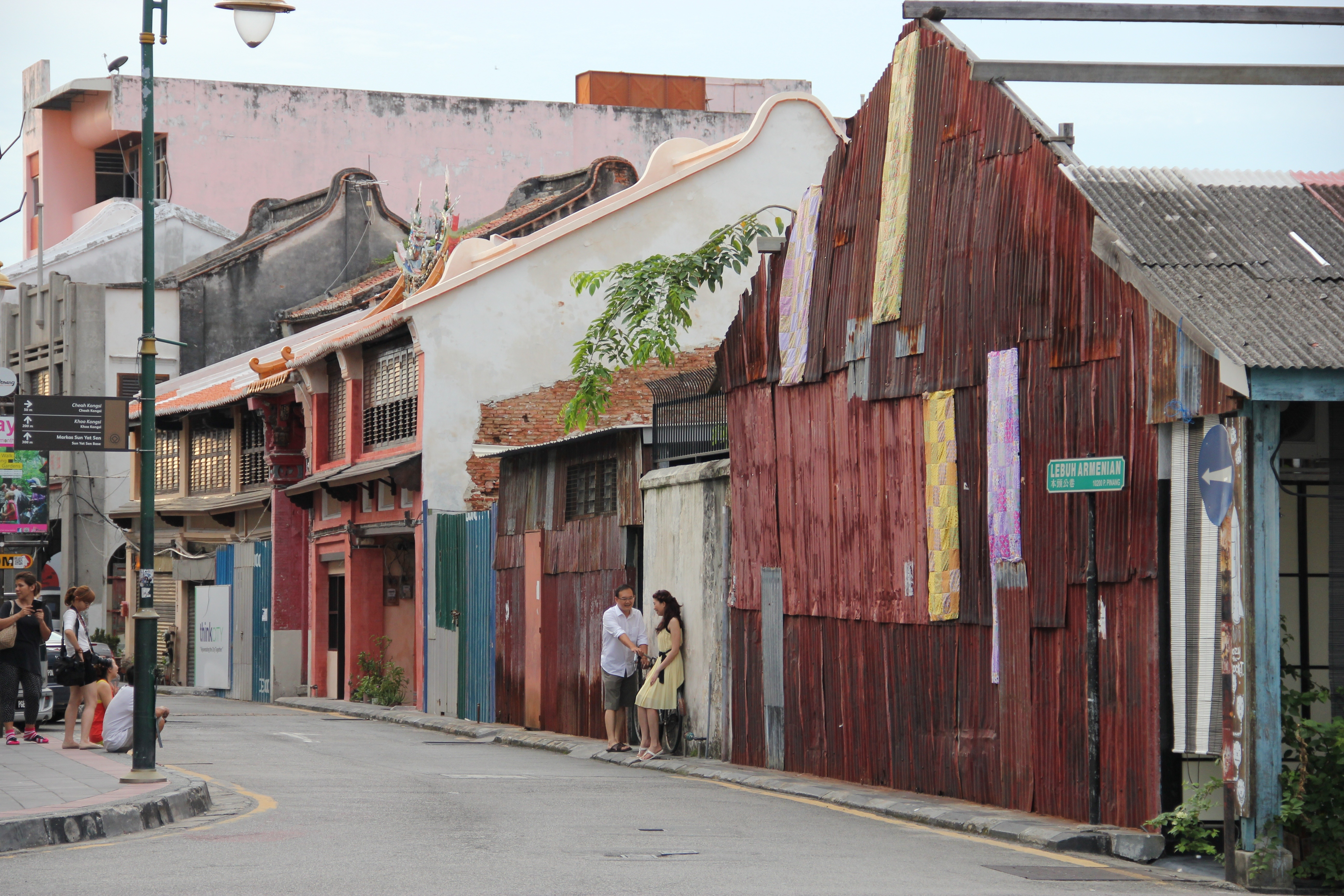 Street art in George Town - you have to line up for a photo!