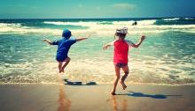 Wave jumping Wanda Beach