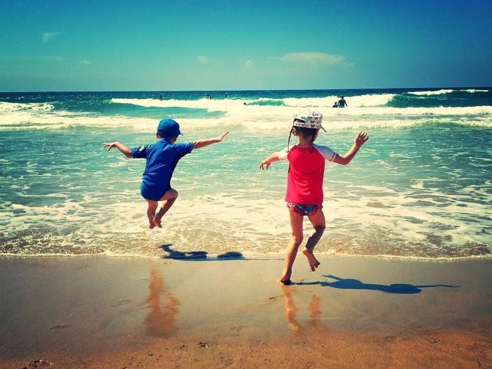Wave jumping at Wanda Beach