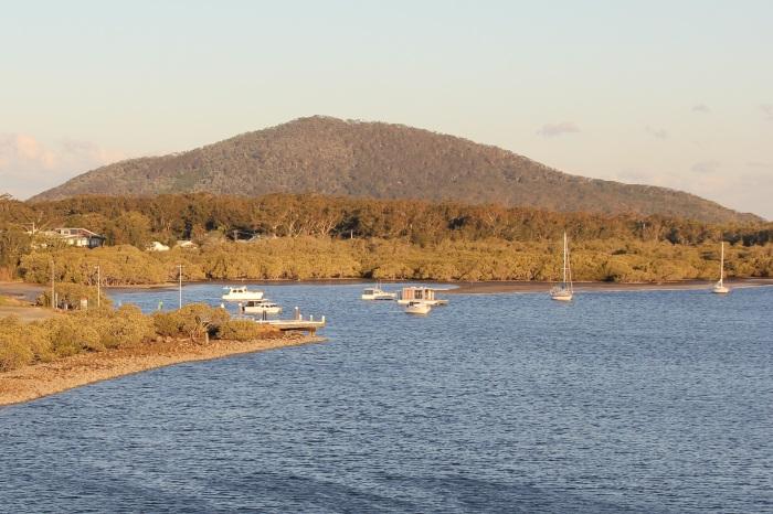 Hawks Nest Jetty - the Yacaaba Headland in the background