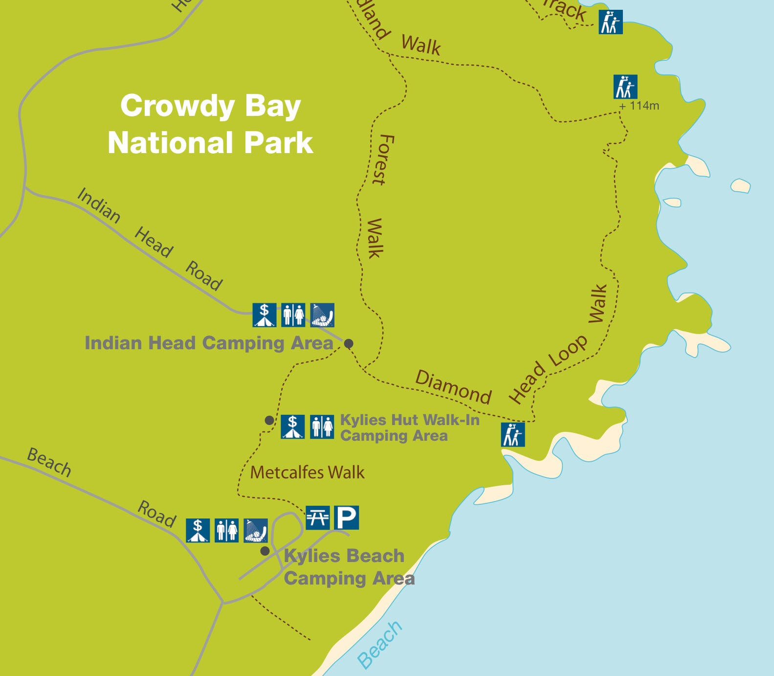 Campground Diamond: Crowdy Bay National Park Camping